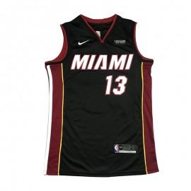 Camiseta Bam Adebayo #13 Miami Heat Negro