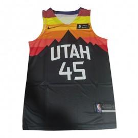 Camiseta Donovan Mitchell #45 Utah Jazz Negro