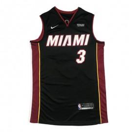 Camiseta Dwyane Wade #3 Miami Heat Negro