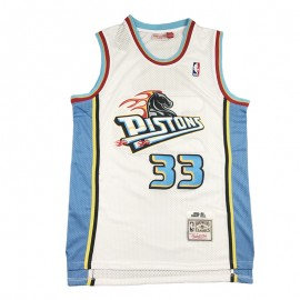 Camiseta Grant Hill #33 Detroit Pistons Blanco Retro Edition