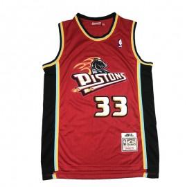 Camiseta Grant Hill #33 Detroit Pistons Rojo Retro Edition