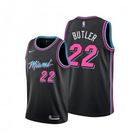 Camiseta Jimmy Butler #22 Miami Heat Negro City Edition