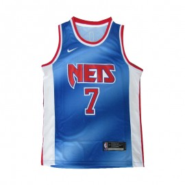 Camiseta Kevin Durant #7 Brooklyn Nets 2021 Azul Retro Edition