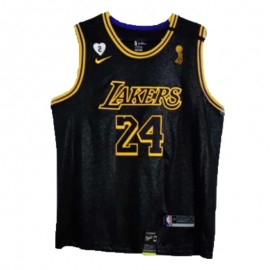 Camiseta Kobe Bryant #24 Los Angeles Lakers 2020 Negro Champion Edition