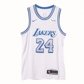 Camiseta Kobe Bryant #24 Los Angeles Lakers 2021 Blanco City Edition