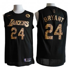 Camiseta Kobe Bryant #24 Los Angeles Lakers 2021 Negro Memorial Edition