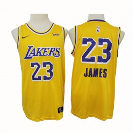 Camiseta LeBron James #23 Los Angeles Lakers 2020 Amarillo