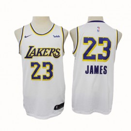 Camiseta LeBron James #23 Los Angeles Lakers 2020 Blanco