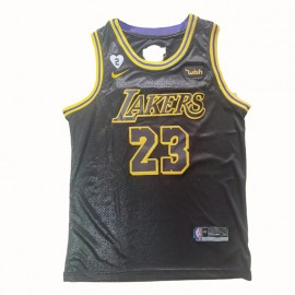 Camiseta LeBron James #23 Los Angeles Lakers 2020 Negro La Final