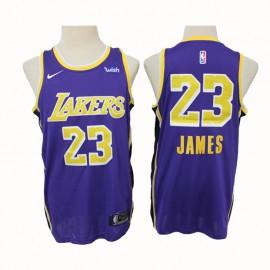 Camiseta LeBron James #23 Los Angeles Lakers 2020 Purpura