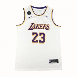 Camiseta LeBron James #23 Los Angeles Lakers 2021 Blanco