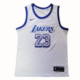 Camiseta LeBron James #23 Los Angeles Lakers 2021 Blanco City Edition