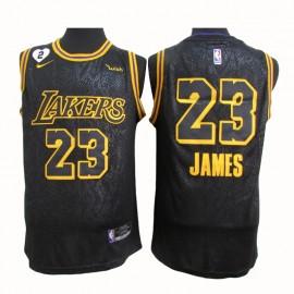 Camiseta LeBron James #23 Los Angeles Lakers 2021 Negro City Edition