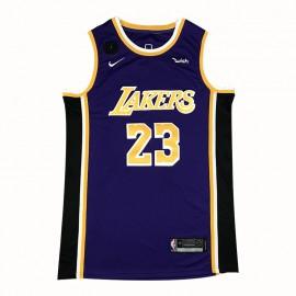 Camiseta LeBron James #23 Los Angeles Lakers 2021 Purpura