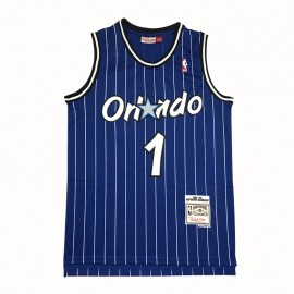 Camiseta Penny Hardaway #1 Orlando Magic Azul Retro Edition