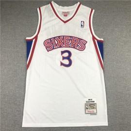 Camiseta Allen Iverson #3 Philadelphia 76ers 1996/97 Blanco