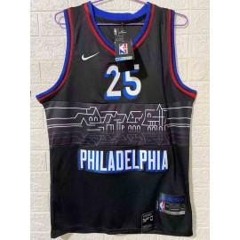 Camiseta Ben Simmons #25 Philadelphia 76ers 2020/21 Negro City Edition