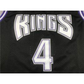 Camiseta Chris Webber #4 Sacramento Kings 1998/99 Negro Hardwood Classics