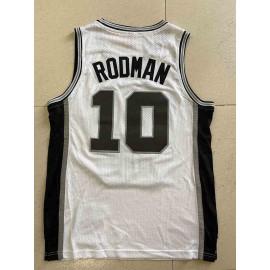 Camiseta Dennis Rodman #10 San Antonio Spurs 1993/94 Blanco Classic Edition