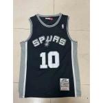 Camiseta Dennis Rodman #10 San Antonio Spurs 1993/94 Negro Classic Edition