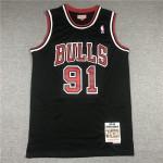 Camiseta Dennis Rodman #91 Chicago Bulls 1997/98 Negro Hardwood Classics