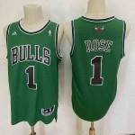 Camiseta Derrick Rose #1 Chicago Bulls Verde