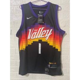 Camiseta Devin Booker #1 Phoenix Suns 2020/21 Negro City Edition