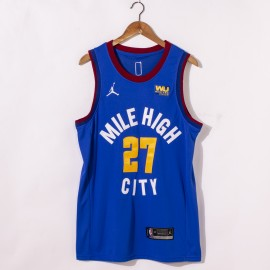 Camiseta Jamal Murray #27 Denver Nuggets 2021 Azul City Edition
