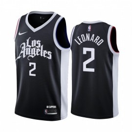 Camiseta Kawhi Leonard #2 Los Angeles Clippers 2021 Negro City Edition