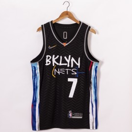 Camiseta Kevin Durant #7 Brooklyn Nets 2020/21 Negro City Edition