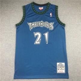 Camiseta Kevin Garnett #21 Minnesota Timberwolves 2003/04 Azul Classic