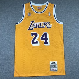 Camiseta Kobe Bryant #24 Los Angeles Lakers Amarillo 60th Anniversary