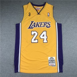 Camiseta Kobe Bryant #24 Los Angeles Lakers Amarillo Champion