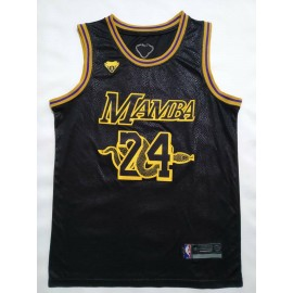 Camiseta Kobe Bryant #24 Los Angeles Lakers Negro Memorial