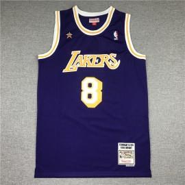 Camiseta Kobe Bryant #8 Los Angeles Lakers 1998 All Star Púrpura