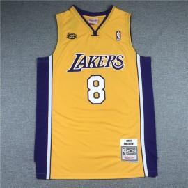 Camiseta Kobe Bryant #8 Los Angeles Lakers Amarillo La Final
