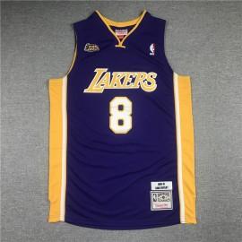 Camiseta Kobe Bryant #8 Los Angeles Lakers Púrpura La Final