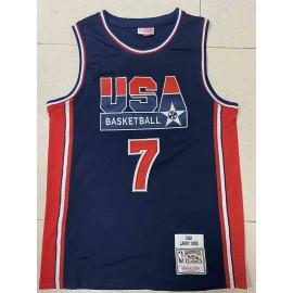 Camiseta Larry Bird #7 USA 1992 Dream Team Azul Classic