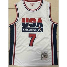 Camiseta Larry Bird #7 USA 1992 Dream Team Blanco Classic