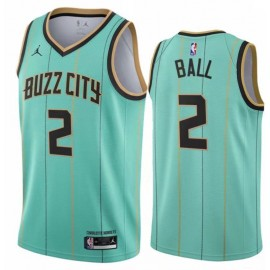 Camiseta LaMelo Ball #2 Charlotte Hornets Verde City Edition