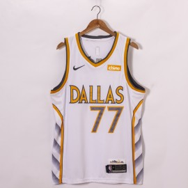 Camiseta Luka Doncic #77 Dallas Mavericks 2020/21 Blanco City Edition