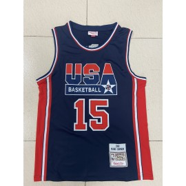 Camiseta Magic Johnson #15 USA 1992 Dream Team Azul Classic