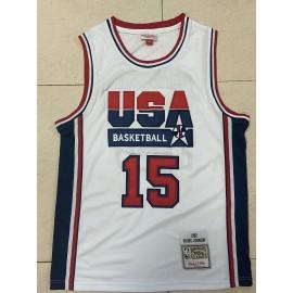 Camiseta Magic Johnson #15 USA 1992 Dream Team Blanco