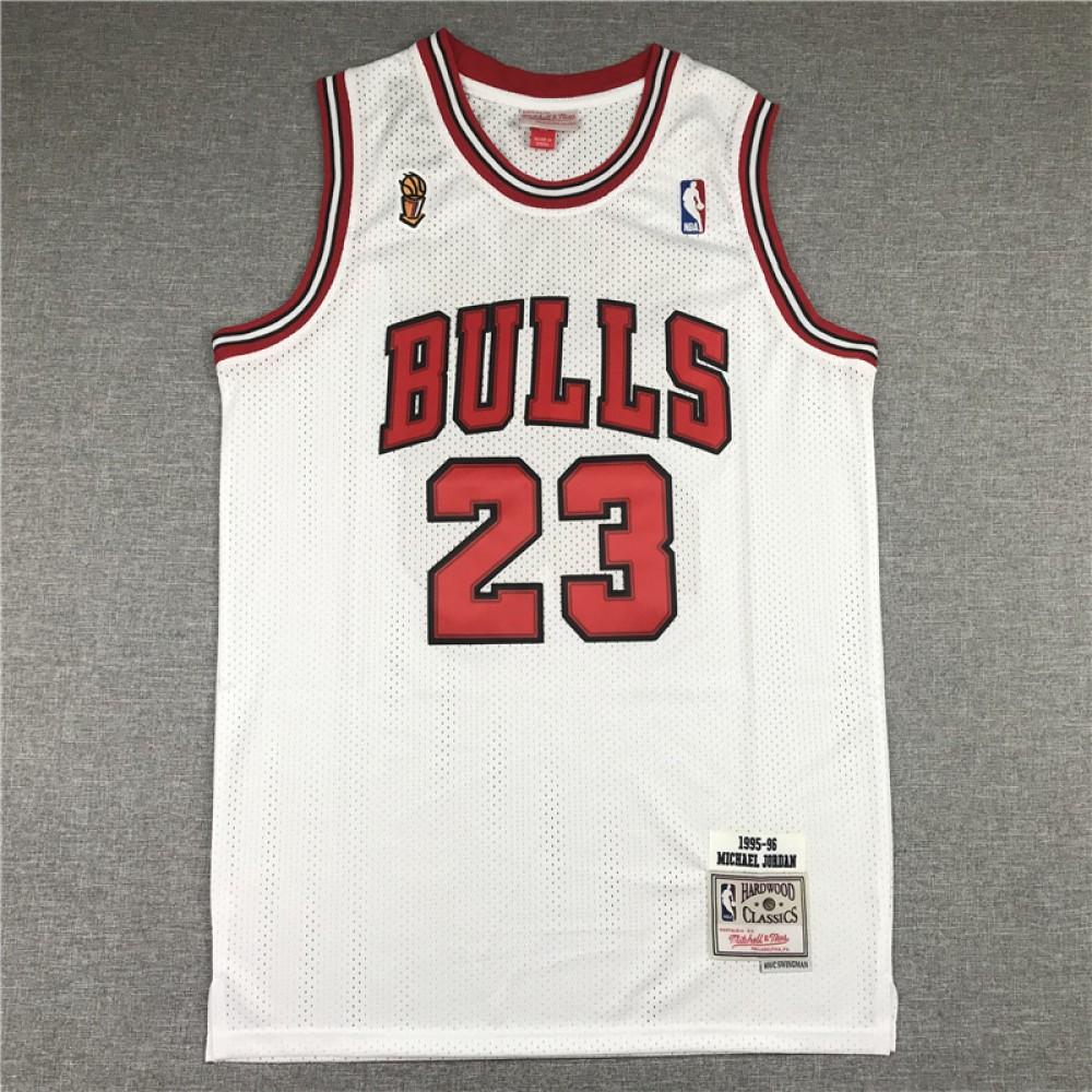Camiseta Michael Jordan #23 Chicago Bulls Blanco Champion