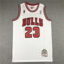 Camiseta Michael Jordan #23 Chicago Bulls Blanco Champion