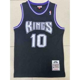 Camiseta Mike Bibby #10 Sacramento Kings 2001/02 Negro Hardwood Classics