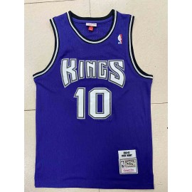 Camiseta Mike Bibby #10 Sacramento Kings 2001/02 Púrpura Hardwood Classics