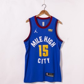 Camiseta Nikola Jokić #15 Denver Nuggets 2021 Azul City Edition