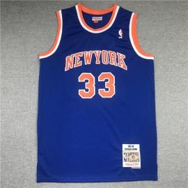 Camiseta Patrick Ewing #33 New York Knicks 1991/92 Azul Hardwood Classics