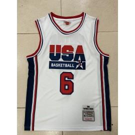 Camiseta Patrick Ewing #6 USA 1992 Dream Team Blanco Classic